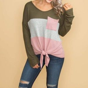 Tops - Waffle Knot Top